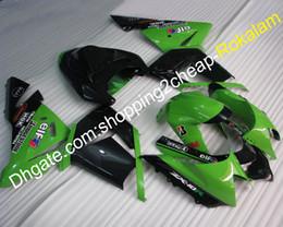 $enCountryForm.capitalKeyWord Australia - ZX 10R 04 05 Green Black Complete Fairing For Kawasaki ZX-10R NINJA ZX10R 2004 2005 Motorcycle Aftermarket kit (Injection molding)