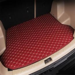 Audi Car Trunk Australia - Audi A6 Station wagon 2007year-2018year car skid trunk mat slip non-slip waterproof leather carpet car trunk mat Car trunk flat mat