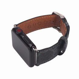 Watches Smart Bracelets Australia - For Apple Watch4 Watch Belt for 38mm 42mm 40mm 44mm Size Watchbands Leather Sports Bracelet Designer Watch Band Smart Straps 60pcs DHL