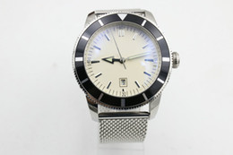 Marine Luxury Watch Australia - Top luxury super marine steel case - white dial rotating circle ocean classic automatic stainless steel men's watch A1732024   G642.