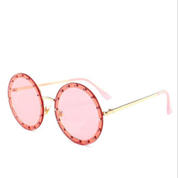 Accessories New Fashion 2018 Style Kids Round Sunglasses Cute Boys&girls Uv400 Summer Cool Glasses Red Yellow Lenspunk Sunglasses Gold Leg With Fml Mother & Kids