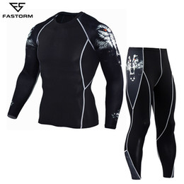 Compression Suits Australia - Fastorm Men Tracksuit Compression Running Set Gym Demix Jogging Suits Sportswear Tight Fitness T-shirt Leggings Workout Clothes Q190517