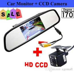 Car reversing Camera CCd online shopping - HD Video Auto Parking Monitor inch Car Rearview Mirror Monitor with LED Night Vision Reversing CCD Car Rear View Camera