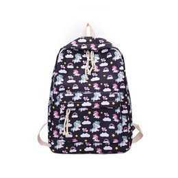 Floral High Quality Cartoon Backpack Women Cate Cute Bag Canvas Printing Backpacks  School Bags For Teenage Girls Rucksack 51bacd0841