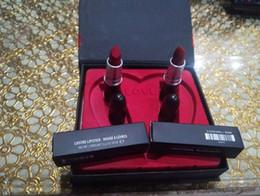$enCountryForm.capitalKeyWord Canada - New Arrival Brand lustre Lipstick Set Matte Lipstick 2Pcs Set With Gift Box High Quality DHL Free Shipping