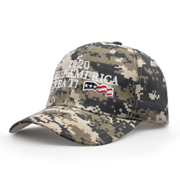 BaseBall cap letters online shopping - Donald Trump Baseball Cap embroideried Make America Great Again hat camouflage Camo USA Flag outdoor letter sports cap LJJA2910