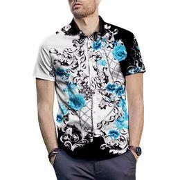 $enCountryForm.capitalKeyWord Australia - 2019 Italian fashion men's casual lapel short-sleeved shirt fashion designer mixed color embroidered shirt Medusa short-sleeved shirt