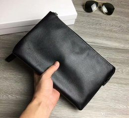 large black clutch NZ - Men Wallet 2018New Brand Leather Men Clutch Bag Casual Large Capacity Purse Business Wallets Handy Bag Monederos