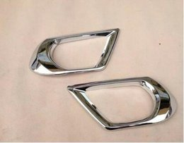 $enCountryForm.capitalKeyWord Australia - 2pcs Front Fog Light Lamp Bumper Chrome Trim Cover For Subaru Forester 2013 2014 2015 Car Styling Sticker Accessories Chrome ABS plastic