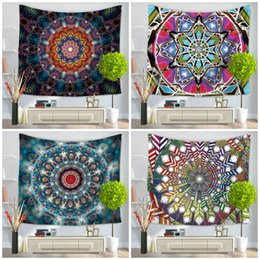 print tablecloths wholesale Australia - New Hot 8 styles of colorful Mandala series printing household tapestry beach towel polyester bedspread tablecloth yoga mat T3I5521