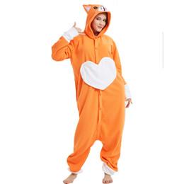284d7c9fb Funny Love Heart dog Adult Kigurumi Pajamas One piece Women Onesie Polar  Fleece Jumpsuit For Halloween Sleepwear Cosplay Party