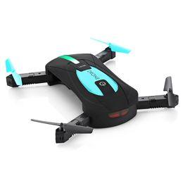 Camera Mini Motor UK - Remote Control Toys RC Helicopters New ELFIE WiFi FPV Quadcopter Mini Foldable Selfie Drone RC Pocket Drones WiFi FPV 720P Camera G-Sensor