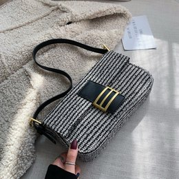 baguette purses Australia - Jollque Baguette Bag for Womens Handbags Purse Vintage Luxury Designer Winter Bags Brand Small Clutches Women Shoulder Bags