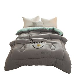 $enCountryForm.capitalKeyWord NZ - Emoji Grey White Pink Purple Green Winter Fiberfill Quilted Comforter Full Queen King Size for Double Bed