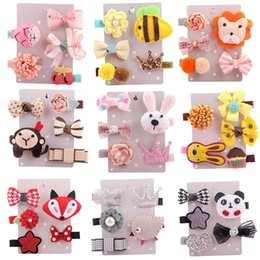 $enCountryForm.capitalKeyWord Australia - 5Pcs baby girl hair accessories Kids Infant Hairpin bebek tokalar Cartoon animal motifs Hair Clip Set Hair Accessories