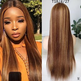 long blond human hair wigs NZ - DreamDiana Ombre Peruvian Straight 360 Lace Frontal Wig 3 Toned Omre Remy Human Hair Wigs Blond 99J 150 Density 360 Lace Wig M