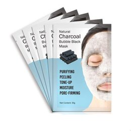 Korean Face Masks Australia - DHL 024 Natural Detox Oxygen Charcoal Bubble Black Sheet Mask Oil Control Face Mask Blackhead Removal Facial Mask Korean Skin Care