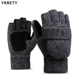 Soft Patchwork Kids Warm Knitted Winter Outdoor Half-finger Thicken Baby Boys Girls Gloves For 4-8y Superior Materials Sports & Entertainment Sports Clothing