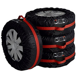 $enCountryForm.capitalKeyWord NZ - 4Pcs Lot Car Spare Tire Cover Case Polyester Auto Wheel Tires Storage Bags Vehicle Tyre Accessories Dust-proof Protector free shipping
