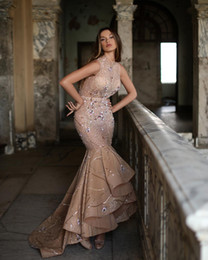 $enCountryForm.capitalKeyWord Australia - 2019 Arabic Aso Ebi Champagne Sparkly Sexy Evening Dresses Beaded Crystals Mermaid Prom Dresses Tulle Formal Party Bridesmaid Pageant Gowns