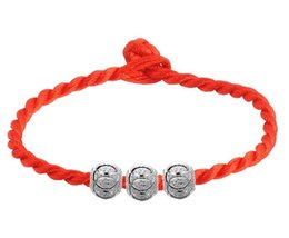 red string bracelet good luck Australia - Red String Chain Bracelet with 925 Sterling Silver Good Luck Beads Vintage Charm Lucky Love Beads Bracelets Jewelry Wholesale 5