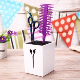 Discount scissors stand - Salon Beauty Comb Case Hair Clips Storage Box Hairdressing Scissors Holder Hair Styling Clamps Stand Kit Box Organizer