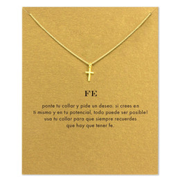 mothers days cards Australia - Fashion Cross Necklace For Women Minimalist Pendant Gold Color Chain Choker Necklaces Fe Gift Card Mothers Day