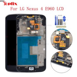 $enCountryForm.capitalKeyWord UK - 100% Tested 4.7inch LCD For LG Nexus 4 E960 LCD Display Touch Screen Digitizer Assembly With Frame Replacement Parts For LG Mako