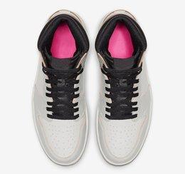 23c08320 2019 Authentic Defiant SB Lakers Air High OG 1 Light Bone Crimson Tint  Hyper Pink Black 1S Men Basketball Shoes Sports Sneakers CD6578-006