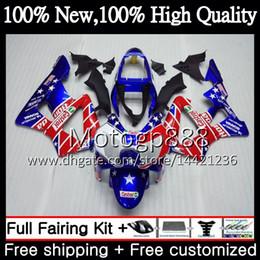 $enCountryForm.capitalKeyWord Australia - Body For HONDA CBR900 RR CBR 929RR CBR 900RR CBR929RR 00 01 54PG22 CBR 929 RR Blue red hot CBR900RR CBR929 RR 2000 2001 Fairing Bodywork