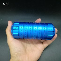 $enCountryForm.capitalKeyWord Australia - Honey Gift Blue Secret Lock Aluminum Metal Model Intelligent Toy 3D Puzzle Box Brain Teaser Code Lock