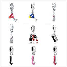 Nuevo estilo encantos tacones altos encanto creativo partido serie colgante pulsera colgante fit pandora charms mujeres hombres diy pulsera joyería ZY110 en venta
