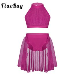 $enCountryForm.capitalKeyWord NZ - Tiaobug Girls Backless Ballet Tutu Wear Kids Crop Top Shorts Skirt Set Ballerina Stage Contemporary Lyrical Dance Costumes Q190604