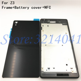 50c510c109 New Full Housing Case Replacement For Sony Xperia Z3 L55 L55w D6603 D6653  LCD panel Frame Middle Bezel Battery door Cover+Logo