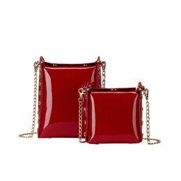 274100092e Women s Designer Handbag 2019 Summer New High-quality Patent Leather Mini  Women Bag Simple Chain Shoulder Bags Messenger Bag