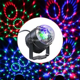 magic bulb Australia - IR Remote Control LED Crystal Magic Ball 3W Mini RGB Stage Lighting Effect Lamp Bulb Party Disco Bedroom Wedding Ceremonies Birthday Parties