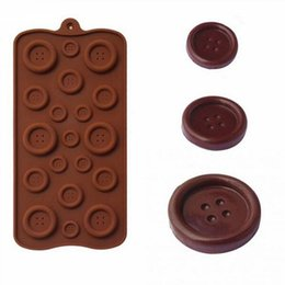 cake decor tools NZ - Button Silicone Mould Multi-size Chocolate Mold 1pcs 4pcs Biscuit Candy Bar Fondant Silicone Molds Cake Decor DIY Baking Tools