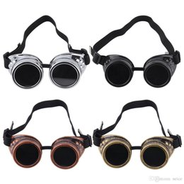 new stylish goggles UK - New Arrivals Fashion Stylish Cyber Goggles Steampunk Glasses Vintage Retro Welding Punk Gothic Victorian eye Protection