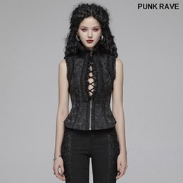 gothic collars Australia - Palace noble Retro Party Women Sexy Vest Gothic Lolita Jacquard Fabric High Collar Hollow Out Waistcoat PUNK RAVE WLY-093MJF