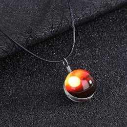 Glow Glasses Party Supplies Australia - Glass Ball Luminous Pendant handcraft Couple Jewelry Glowing Pendants Dream Starry Sky Time Ball Necklace Party Favor GGA1604