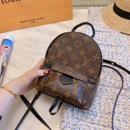 Patchwork Plaid Handbags Australia - 2019 luxury famous quality leather retiro 23*31cm designer bags backpack handbag lady Backpacks Laptop Sac à main unisex Women men 060304
