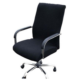 Discount office lift - Elasticity Office Computer Chair Cover Side Arm Cover Recouvre Chaise Stretch Rotating Lift Chair Cover Without Chair 5