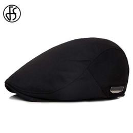 $enCountryForm.capitalKeyWord Australia - Fs Fashion Flat Caps For Men Hat Unisex Beret Cap Women Summer Casual Sun Breathable Hats Black Berets Cabbie 2019 Chapeau HommeSH190724