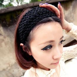 $enCountryForm.capitalKeyWord UK - Wool with hole hand knitting hair hoop hair band edge fabric head hoop