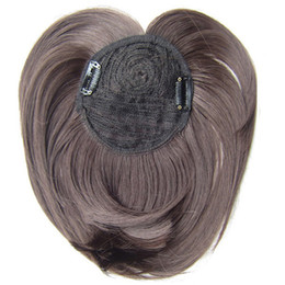 Synthetic Hair Clip Bangs Australia - Similler White Black Brown Blonde Fake Fringe Clip In Blunt Bangs Synthetic Hair Extensions With High Temperature Fiber