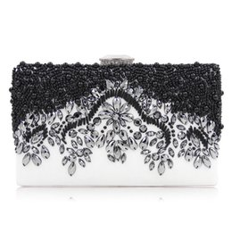 Ladies Evening Handbags Australia - 2019 European American Style Women Evening Party Bag Ladies Clutch Beaded Phone Bags Bride Wedding Clutches Handbag Bolsas Mujer