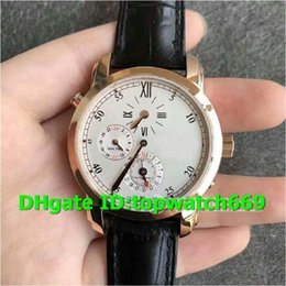 $enCountryForm.capitalKeyWord Australia - K11 New Luxury Watch 42005 000R-9068 Watch Dual Time Regulator Rosegold Case Leather Strap 23J Automatic Movement 1206 movement Men Watch