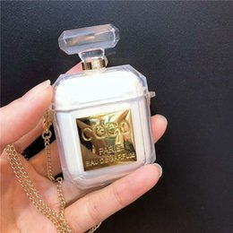 $enCountryForm.capitalKeyWord Australia - For Airpods Perfume bottle Case CC Shock Proof Transparent INS glitter crystal storage case for apple airpods keyring gift dhl