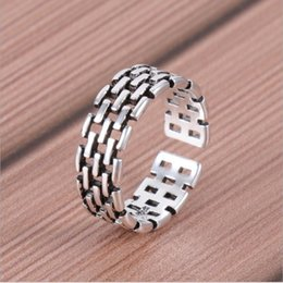 $enCountryForm.capitalKeyWord Australia - New Men Women Fashion Hollow Out Ring Opening Adjustable Finger Ring Silver Stainless Steel Jewelry Gift