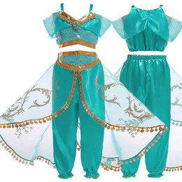 Top halloween cosTumes for kids online shopping - 2019 new Party dress Girls Princess Dress Halloween Clothes for Kids Children s Set Top Pants Cosplay Costume girl gifts